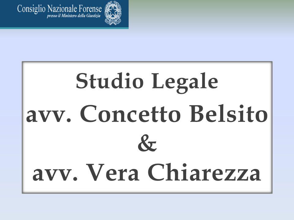 avv. Concetto Belsito & avv. Vera Chiarezza