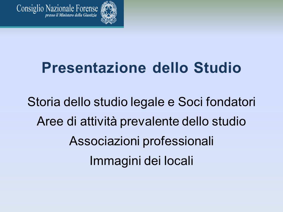 Presentazione dello Studio