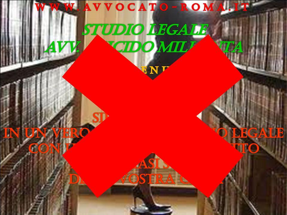 Studio legale avv. LUCIDO MILLANTA