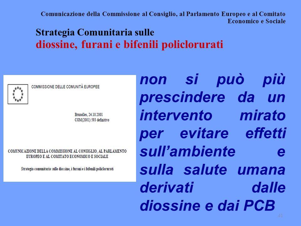 Comunicazione della Commissione al Consiglio, al Parlamento Europeo e al Comitato Economico e Sociale