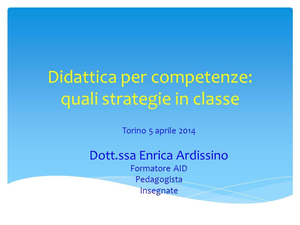 Didattica per competenze: quali strategie in classe
