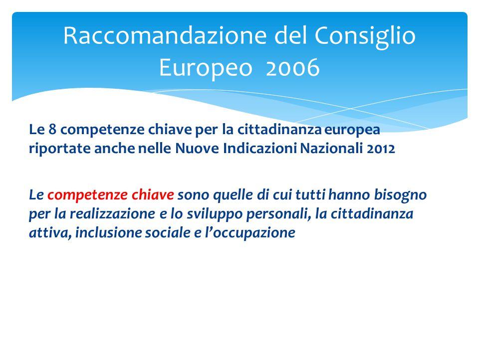 Raccomandazione del Consiglio Europeo 2006