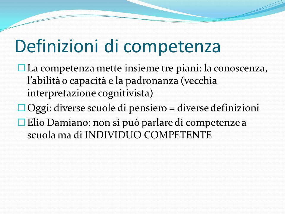 Definizioni di competenza