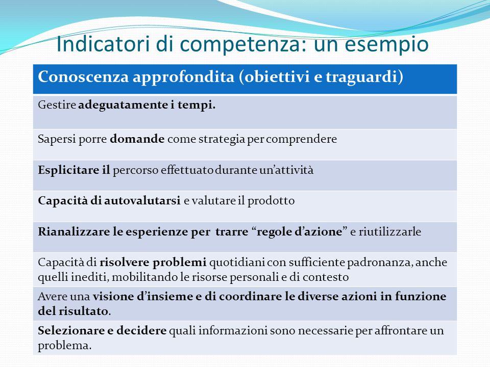 Indicatori di competenza: un esempio