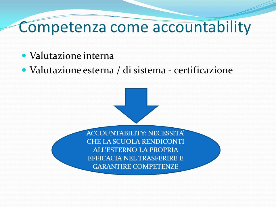Competenza come accountability