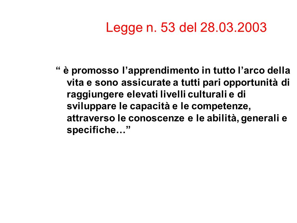 Legge n. 53 del 28.03.2003