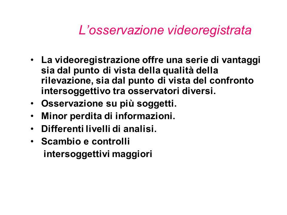 L'osservazione videoregistrata