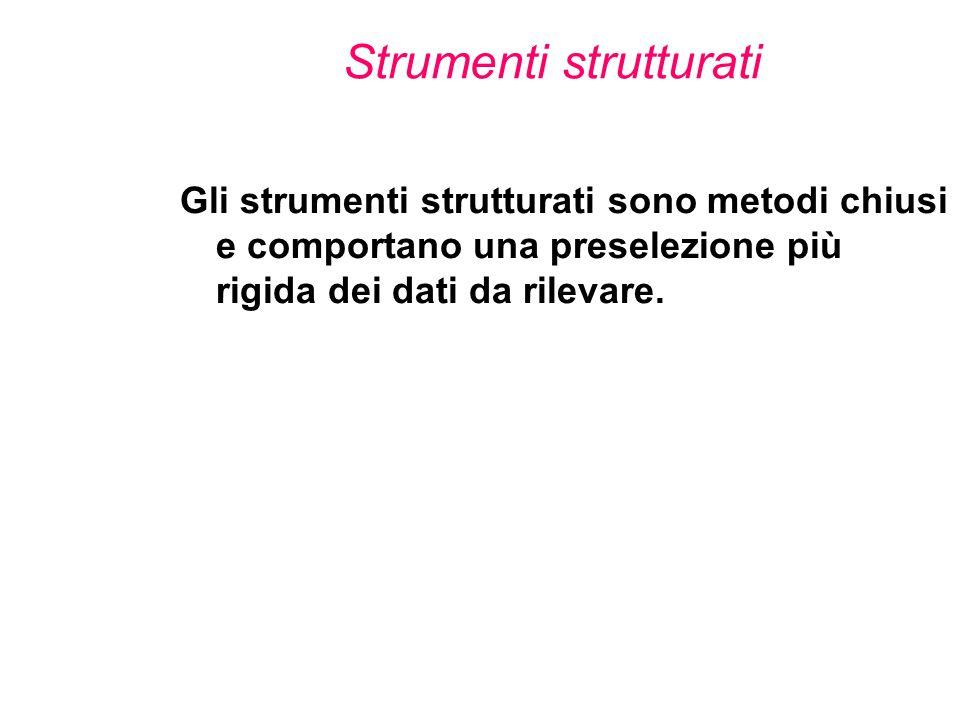 Strumenti strutturati