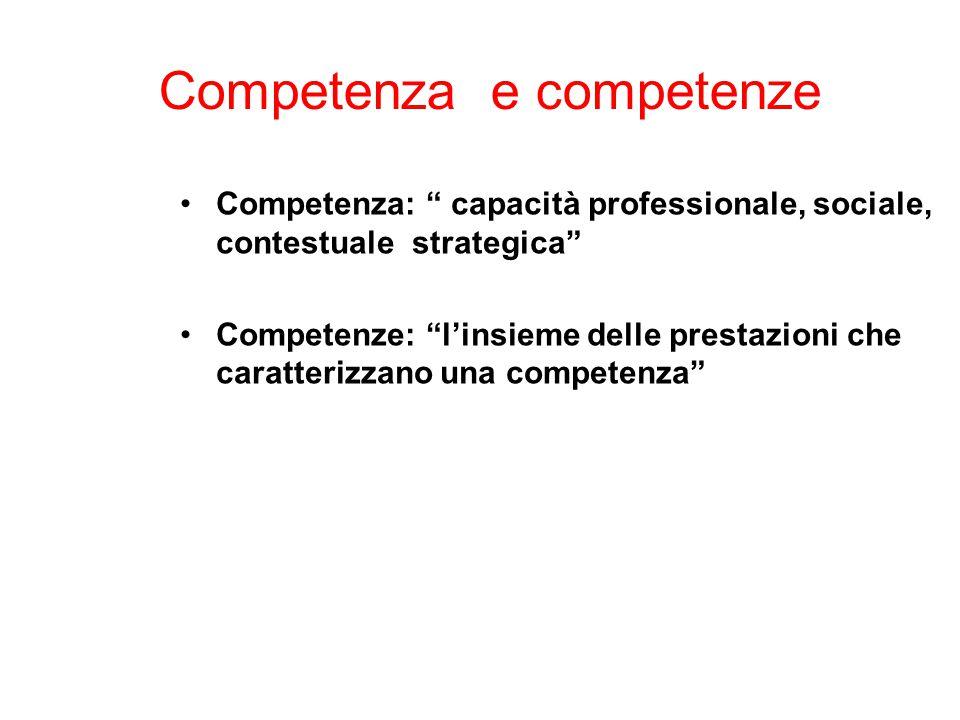 Competenza e competenze