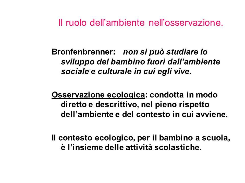 Il ruolo dell'ambiente nell'osservazione.