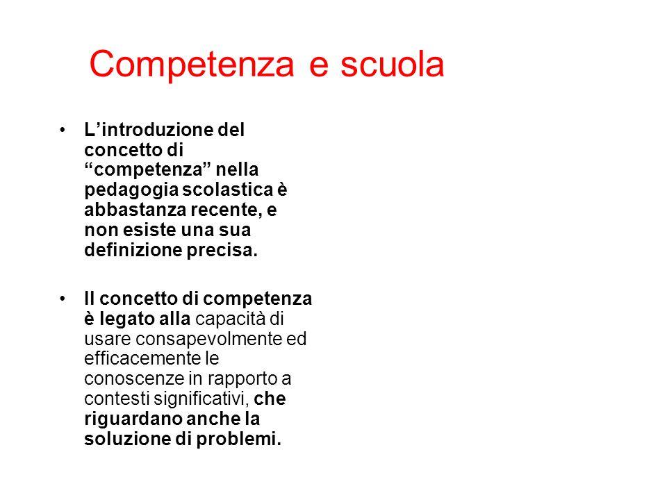 Competenza e scuola