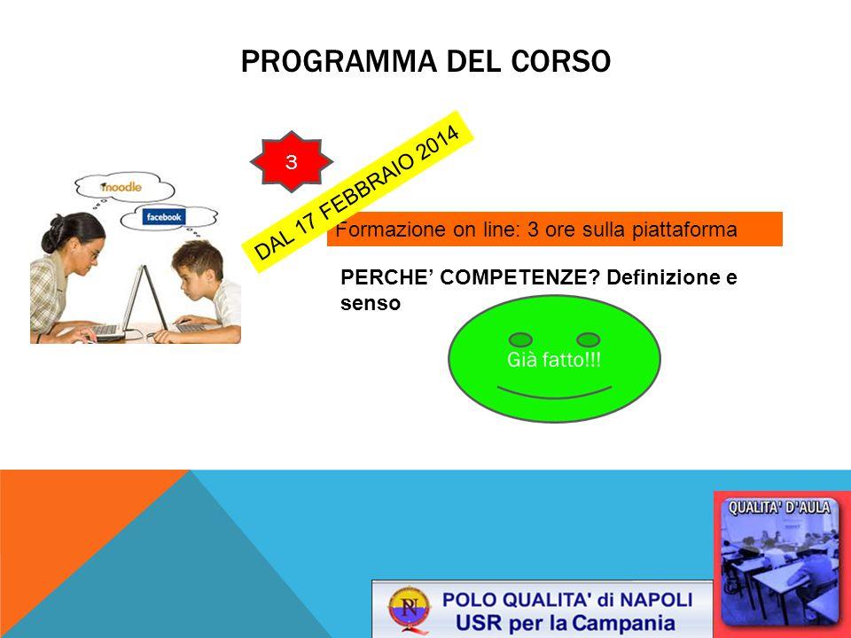 Programma del corso 1 3 DAL 17 FEBBRAIO 2014