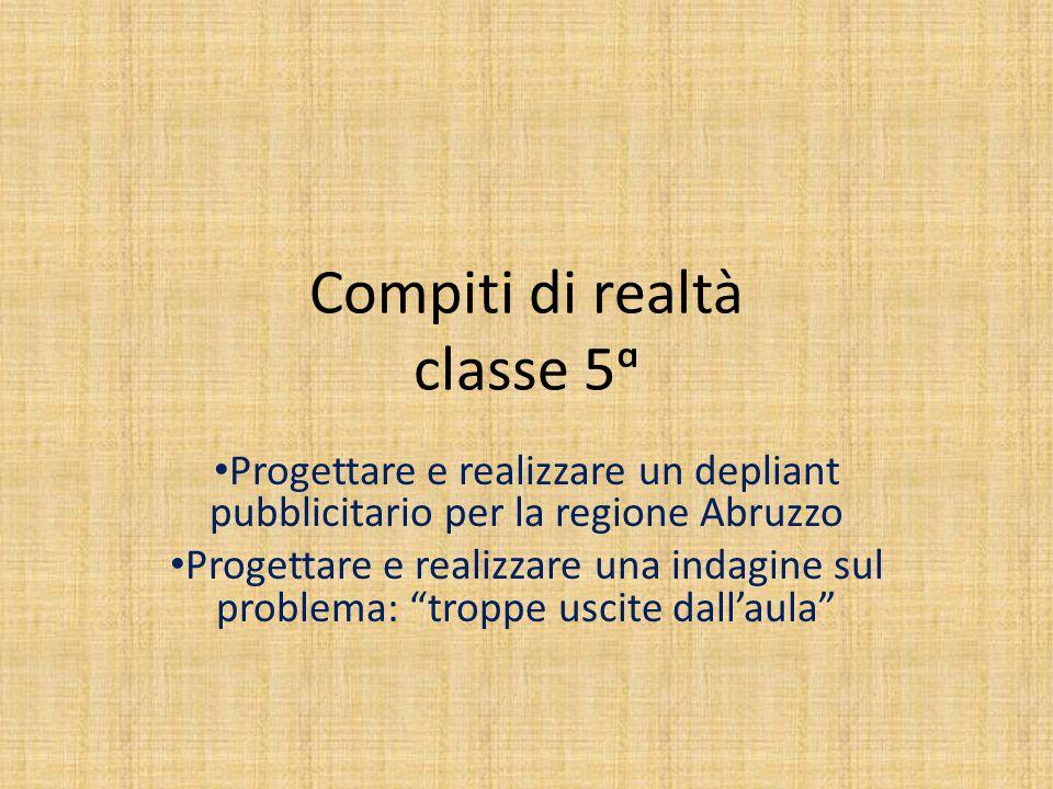 Compiti di realtà classe 5ᵅ