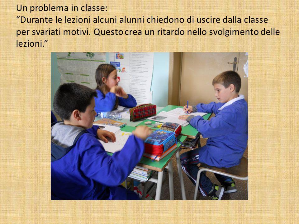 Un problema in classe: Durante le lezioni alcuni alunni chiedono di uscire dalla classe per svariati motivi.