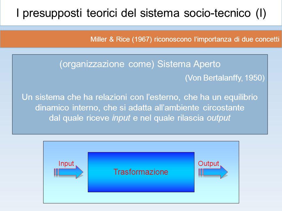 I presupposti teorici del sistema socio-tecnico (I)