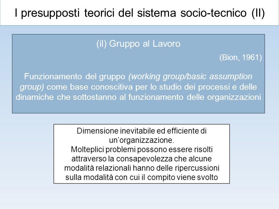 I presupposti teorici del sistema socio-tecnico (II)
