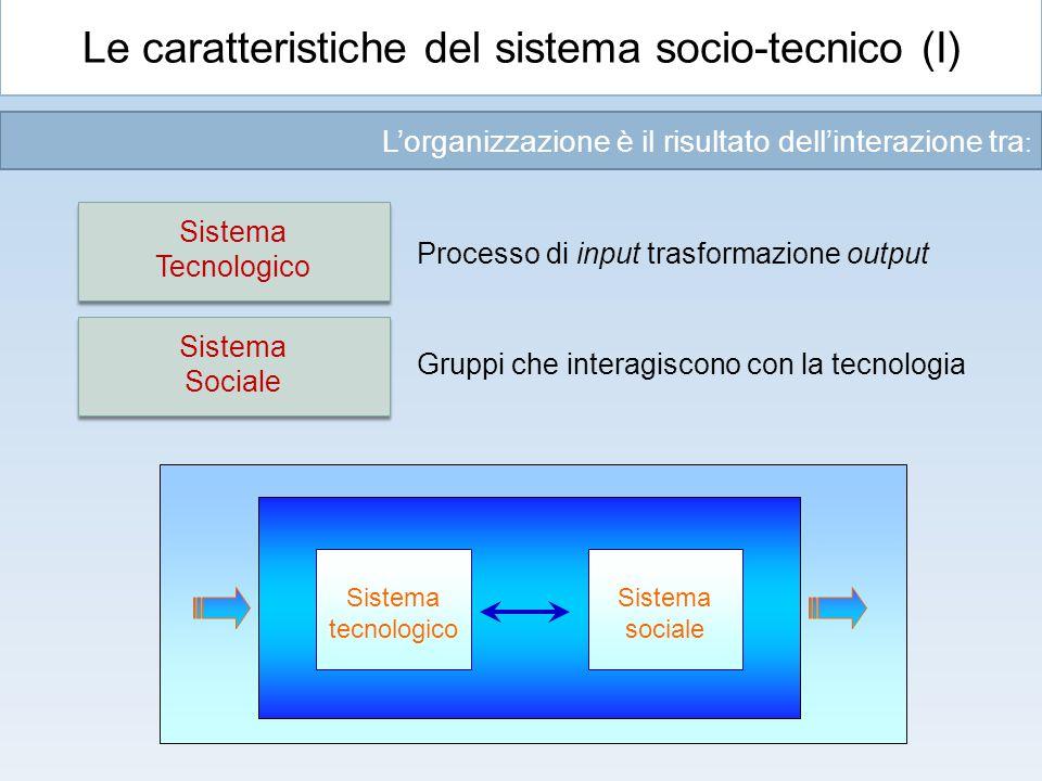 Le caratteristiche del sistema socio-tecnico (I)