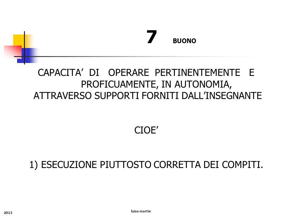 7 BUONO CAPACITA' DI OPERARE PERTINENTEMENTE E