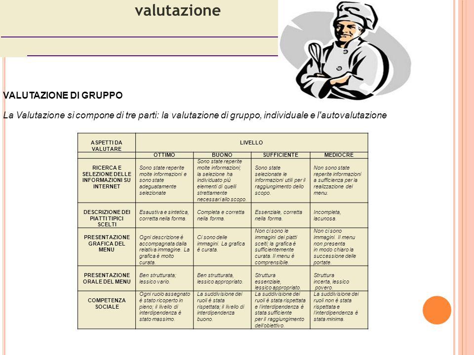 valutazione VALUTAZIONE DI GRUPPO