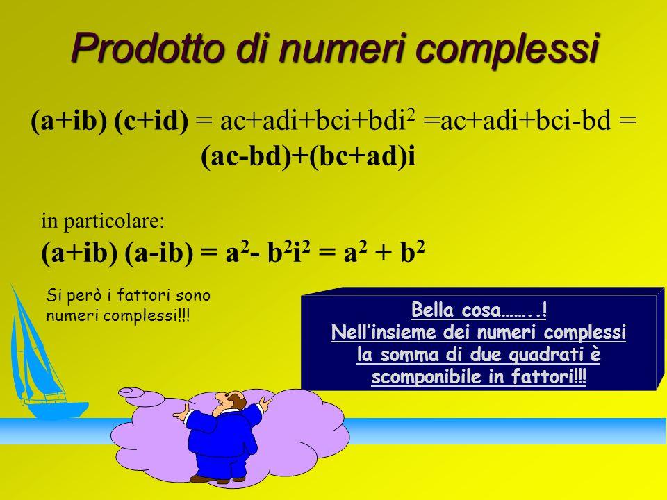 Prodotto di numeri complessi