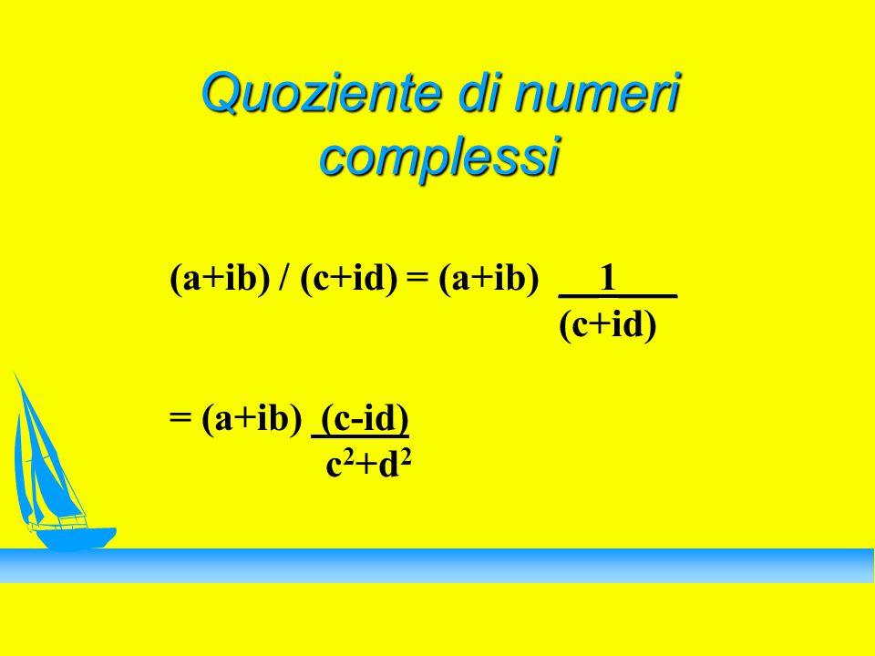 Quoziente di numeri complessi