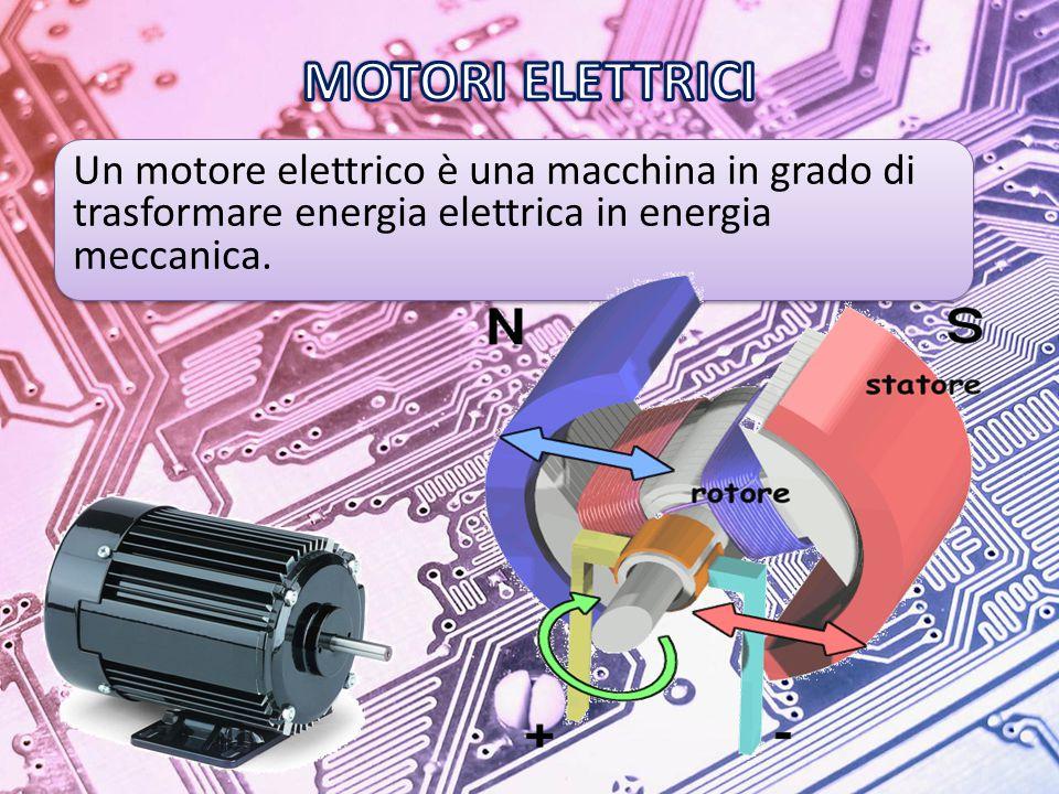 MOTORI ELETTRICI Un motore elettrico è una macchina in grado di trasformare energia elettrica in energia meccanica.