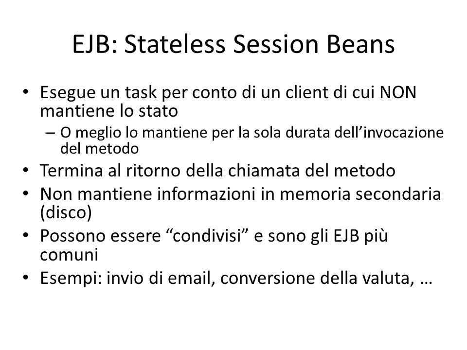 EJB: Stateless Session Beans