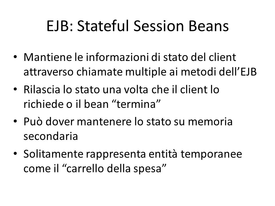 EJB: Stateful Session Beans