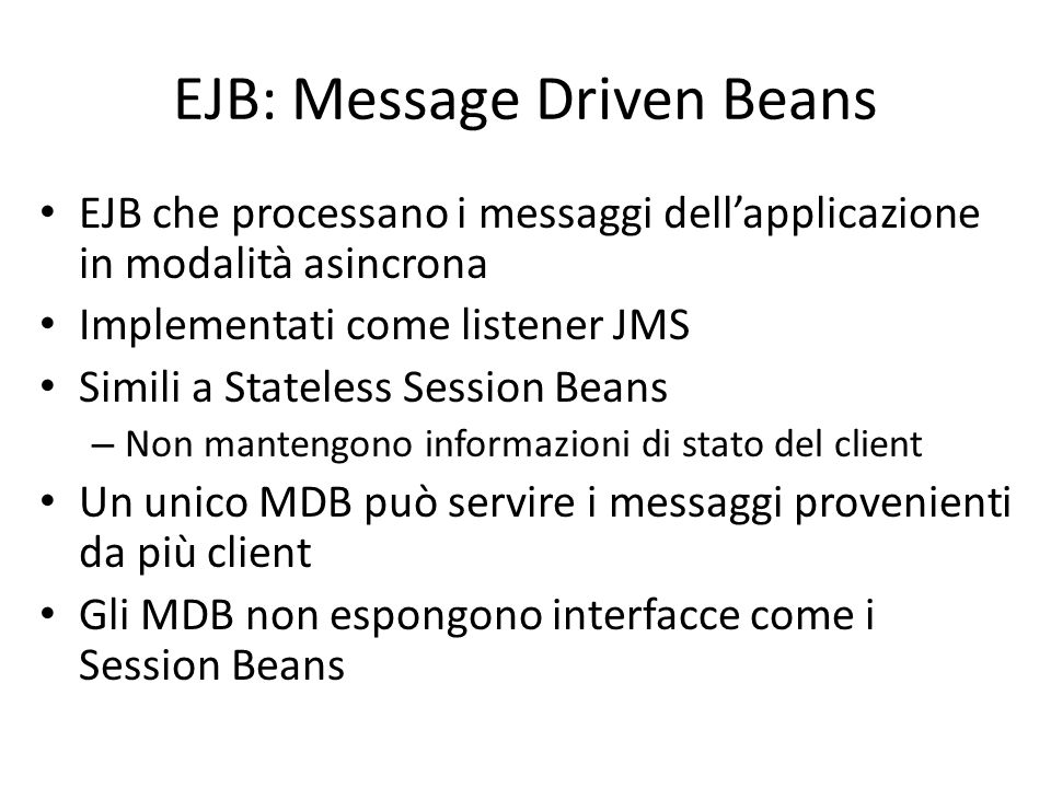 EJB: Message Driven Beans