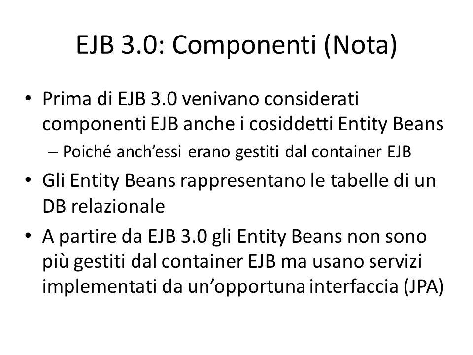 EJB 3.0: Componenti (Nota)