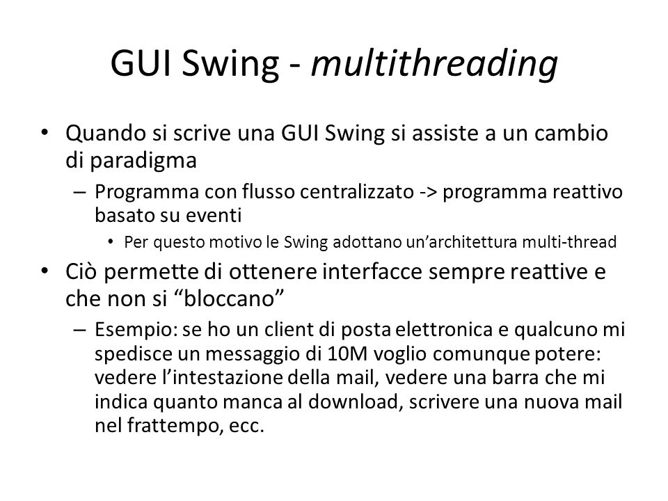 GUI Swing - multithreading