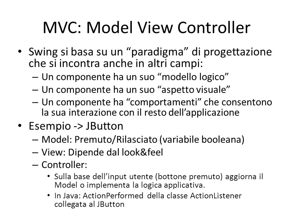 MVC: Model View Controller