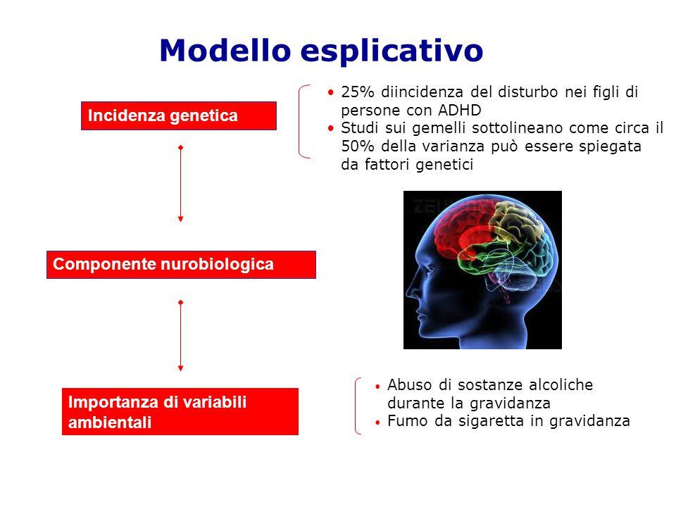 Modello esplicativo Incidenza genetica Componente nurobiologica