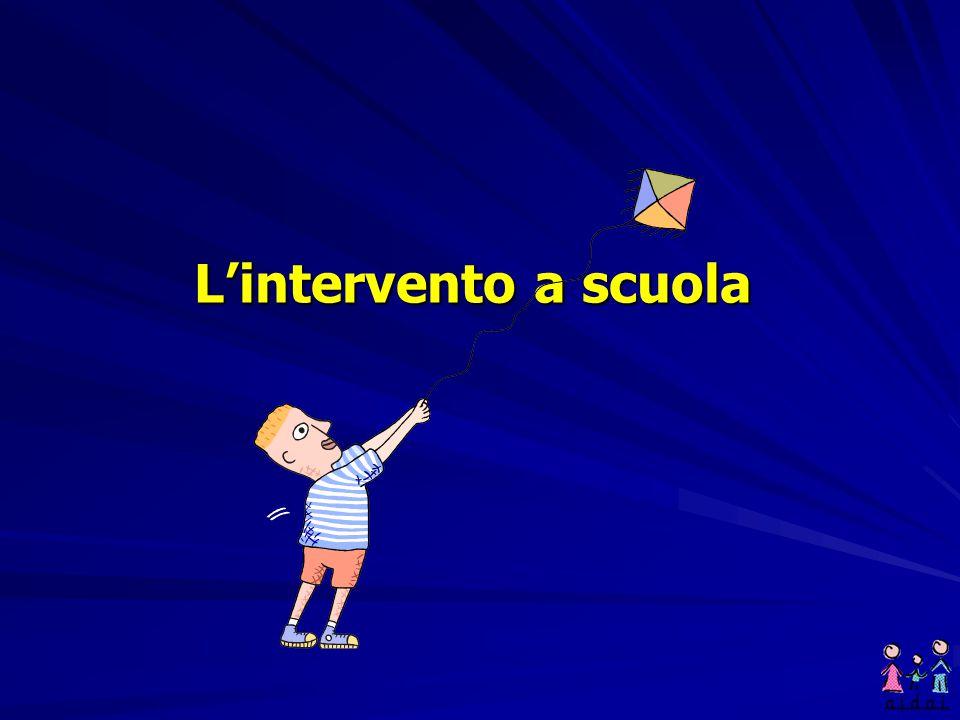 L'intervento a scuola