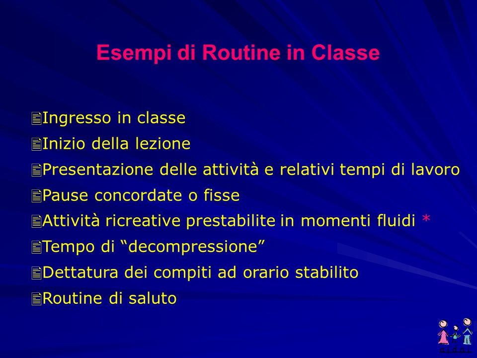 Esempi di Routine in Classe