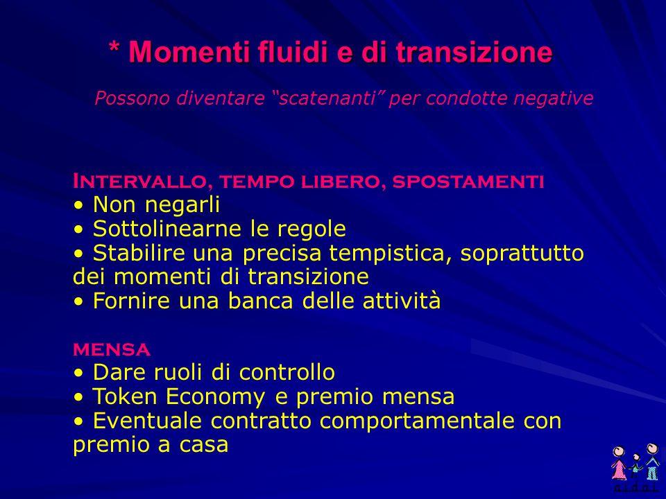 * Momenti fluidi e di transizione