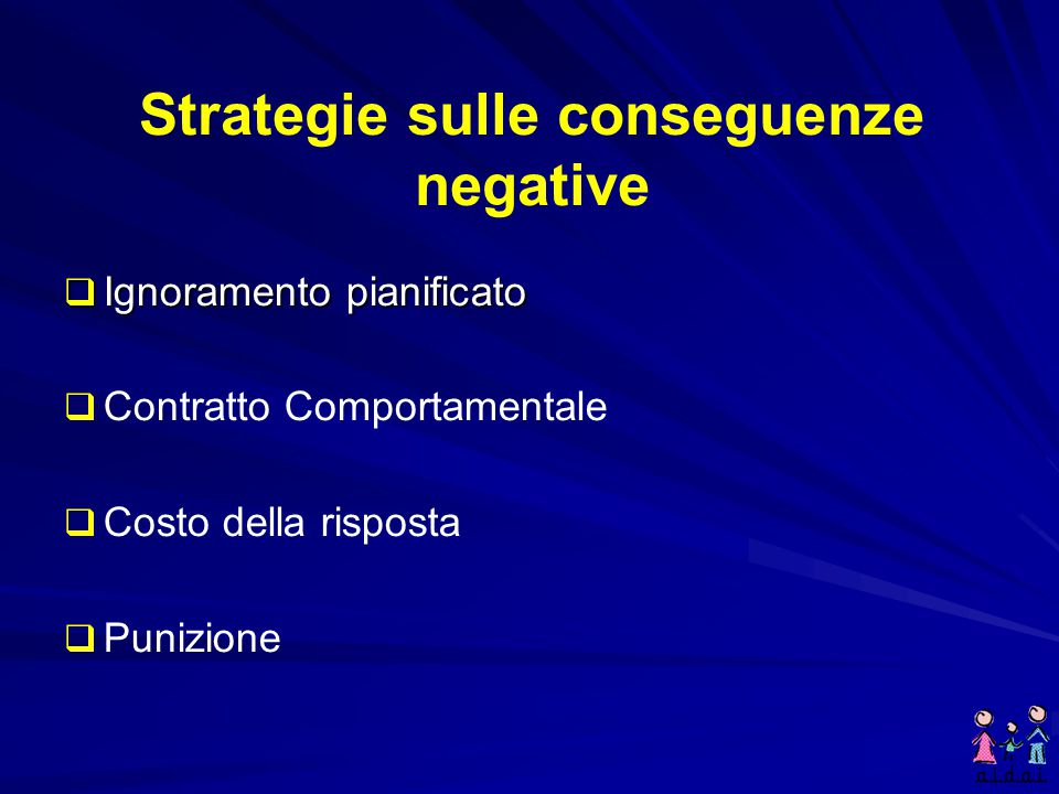 Strategie sulle conseguenze negative