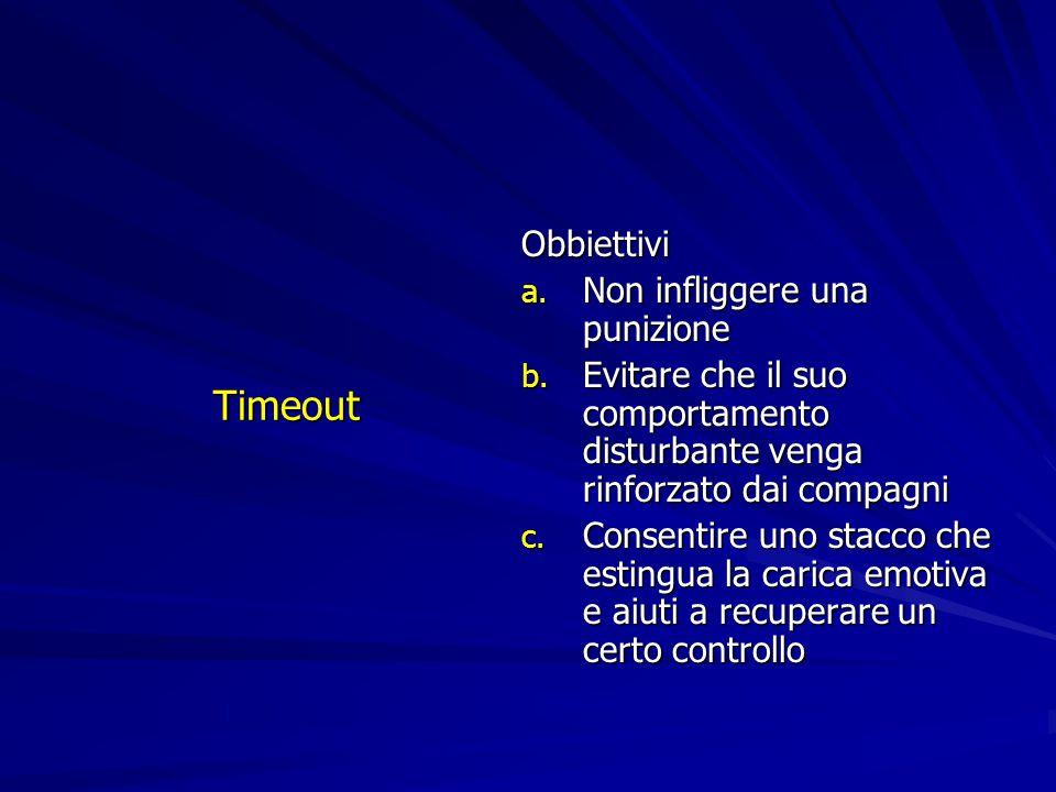 Timeout Obbiettivi Non infliggere una punizione