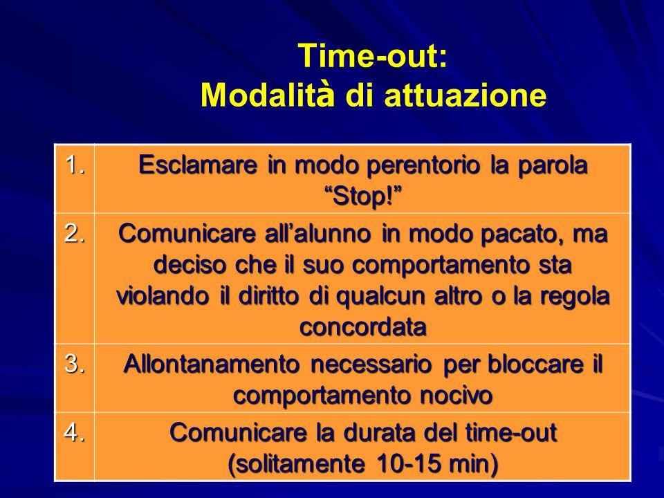 Time-out: Modalità di attuazione
