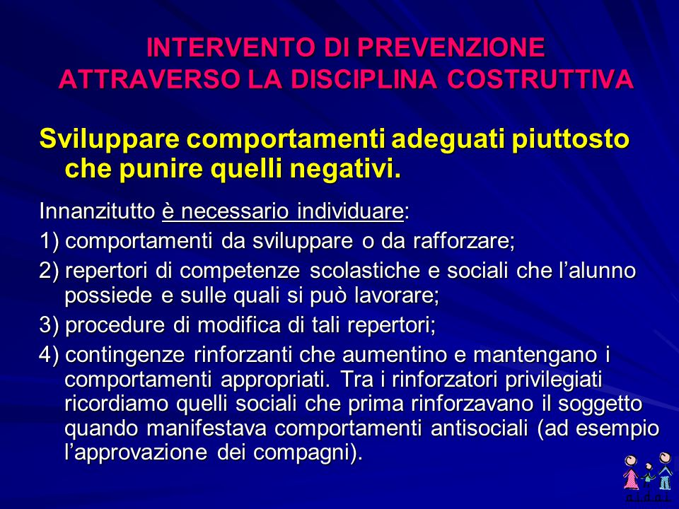 INTERVENTO DI PREVENZIONE ATTRAVERSO LA DISCIPLINA COSTRUTTIVA