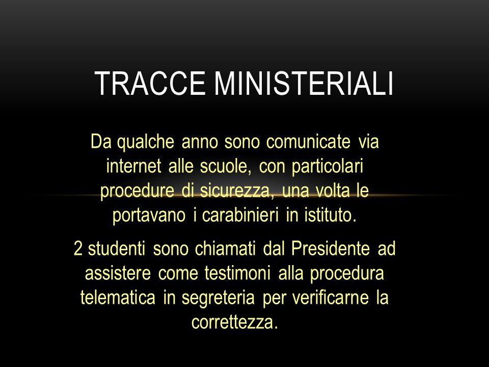 Tracce ministeriali