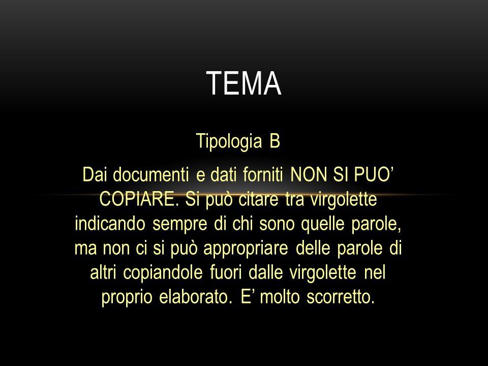 tema Tipologia B.