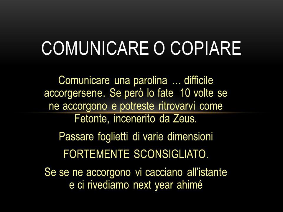 COMUNICARE O COPIARE