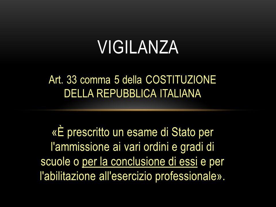 Art. 33 comma 5 della COSTITUZIONE DELLA REPUBBLICA ITALIANA