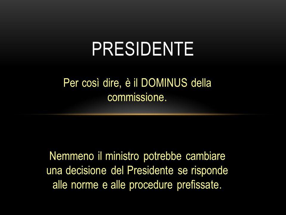 Per così dire, è il DOMINUS della commissione.