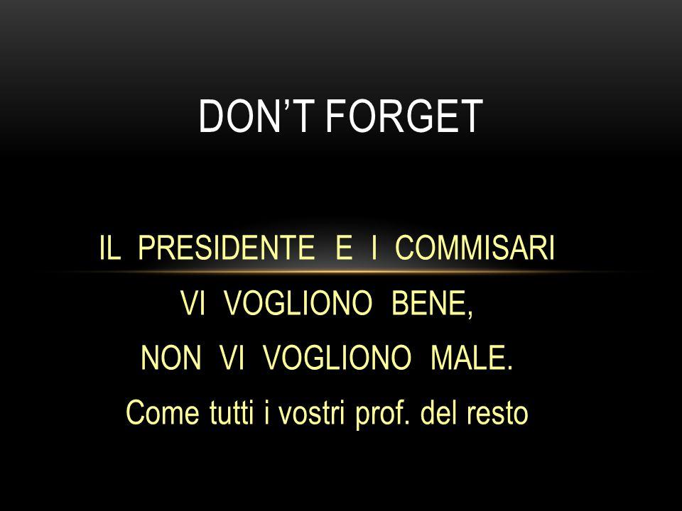Don't forget IL PRESIDENTE E I COMMISARI VI VOGLIONO BENE,