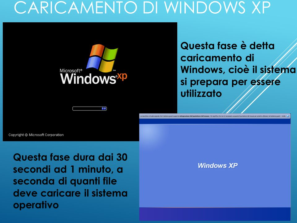 Caricamento di Windows XP