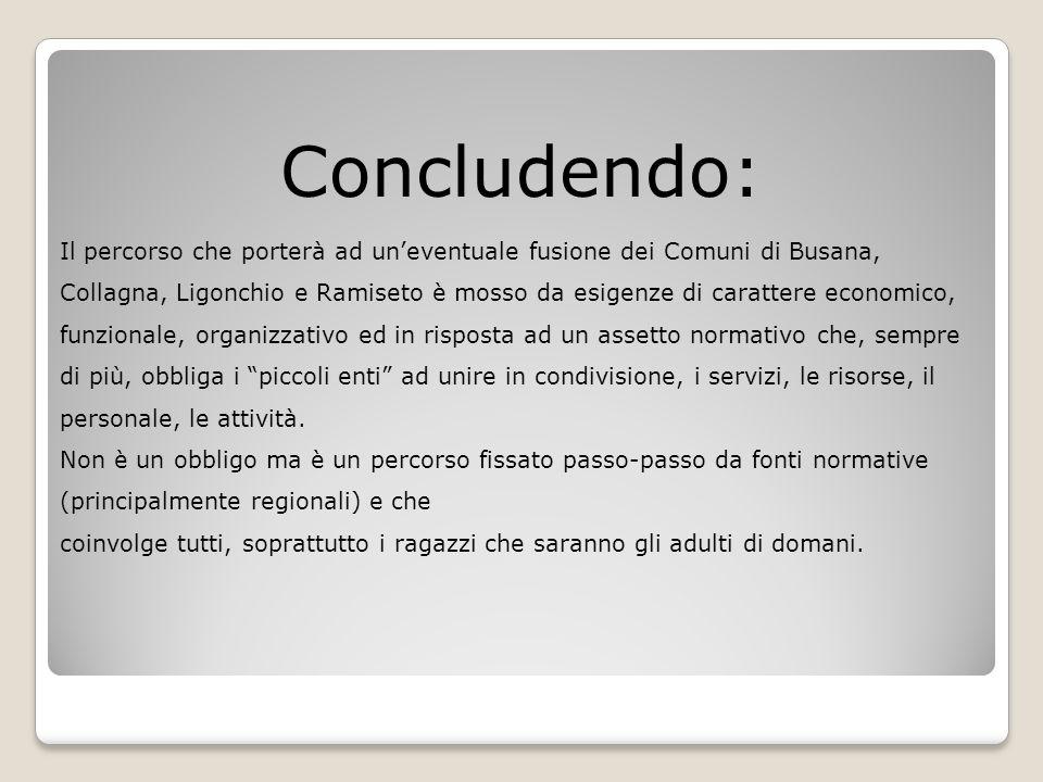 Concludendo: