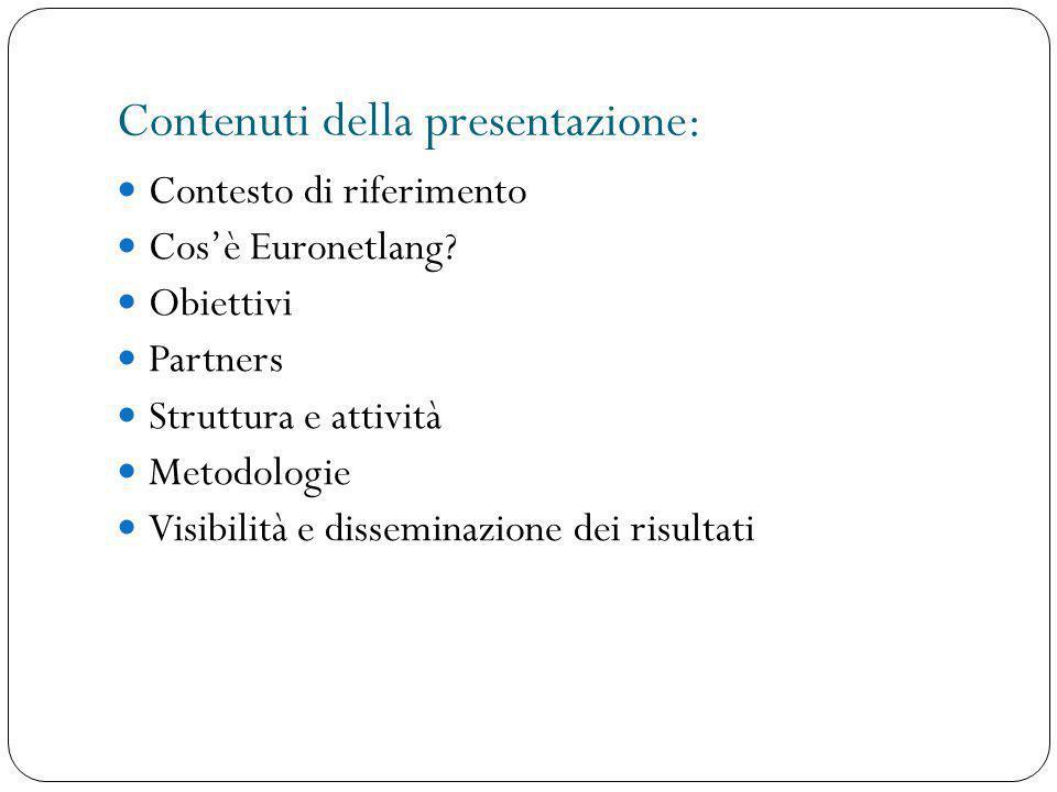 Contenuti della presentazione:
