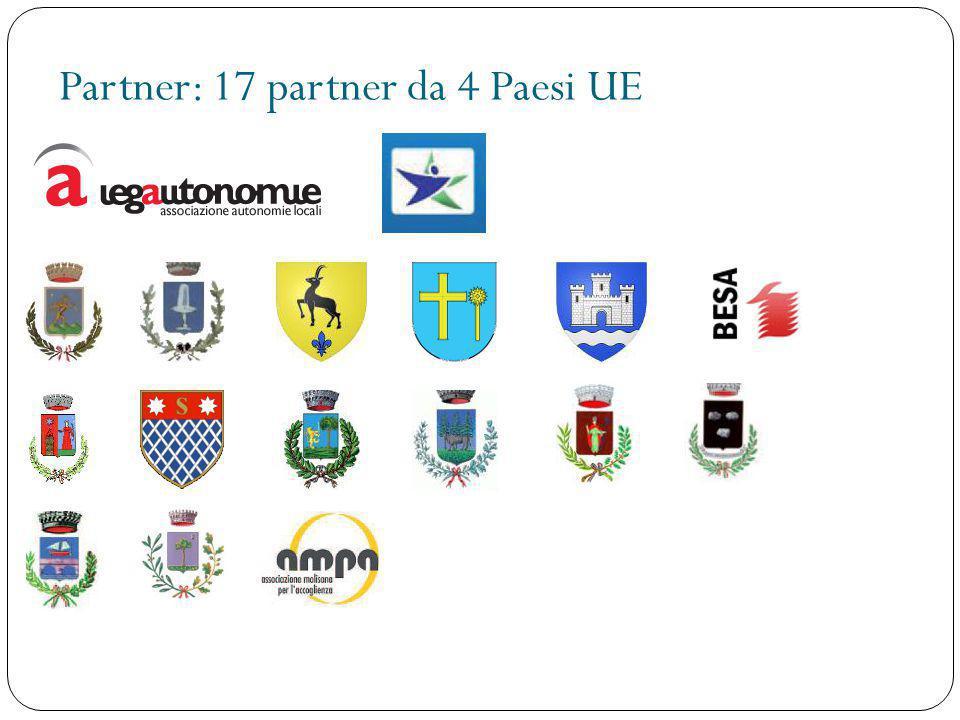 Partner: 17 partner da 4 Paesi UE